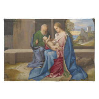 The Holy Family by Giorgione Cloth Place Mat