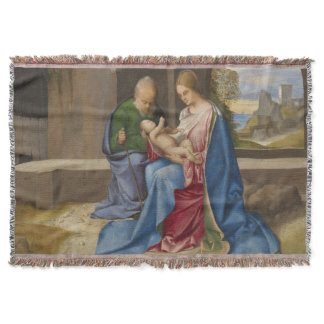The Holy Family by Giorgione Throw Blanket