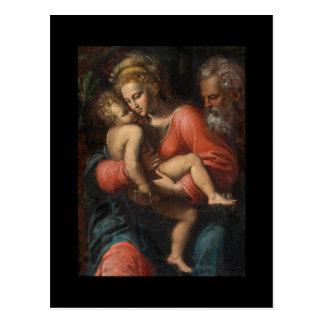 The Holy Family by Girolamo da Carpi Postcard