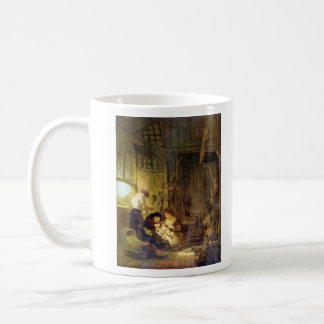 The Holy Family by Rembrandt Harmenszoon van Rijn Coffee Mugs