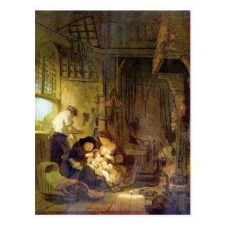 The Holy Family by Rembrandt Harmenszoon van Rijn Postcard