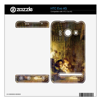 The Holy Family by Rembrandt Harmenszoon van Rijn Decal For The HTC Evo 4G