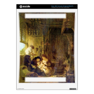 The Holy Family by Rembrandt Harmenszoon van Rijn Skins For The Xbox 360