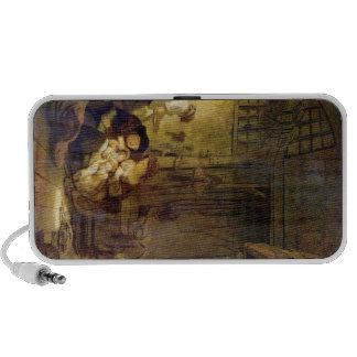 The Holy Family by Rembrandt Harmenszoon van Rijn Laptop Speaker