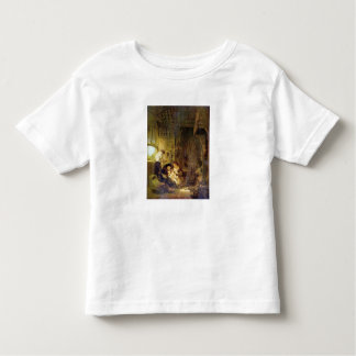 The Holy Family by Rembrandt Harmenszoon van Rijn Toddler T-shirt