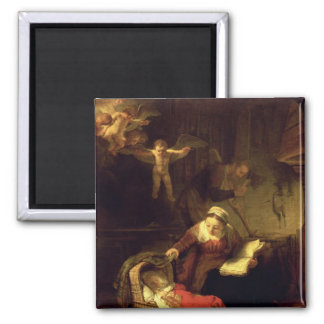 The Holy Family, c.1645 2 Inch Square Magnet