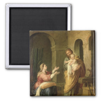 The Holy Family, c.1660-70 2 Inch Square Magnet
