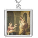 The Holy Family, c.1660-70 Square Pendant Necklace