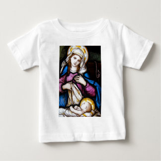 The Holy Family Depicting Madonna and Child Baby T-Shirt