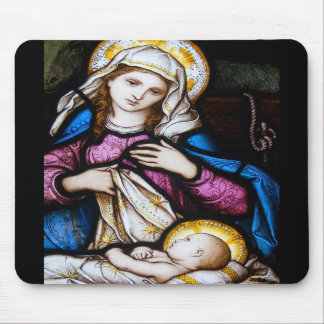 The Holy Family Depicting Madonna and Child Mousepads