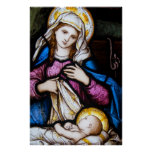 The Holy Family Depicting Madonna and Child Poster