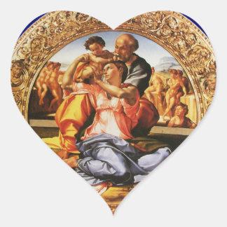 The Holy Family Heart Heart Sticker