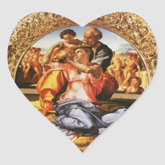 The Holy Family Heart Stickers
