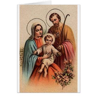 The Holy Family - Jesus, Mary, and Joseph Card