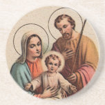 The Holy Family - Jesus, Mary, and Joseph Drink Coaster