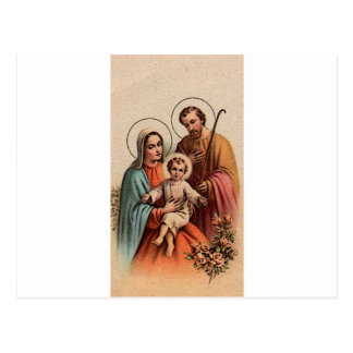 The Holy Family - Jesus, Mary, and Joseph Postcard