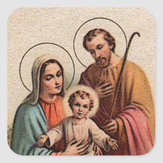 The Holy Family - Jesus, Mary, and Joseph Square Sticker