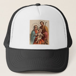 The Holy Family - Jesus, Mary, and Joseph Trucker Hat