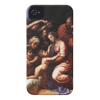 The Holy family, Mary, Jesus, Joseph, John, & Eli iPhone 4 Case