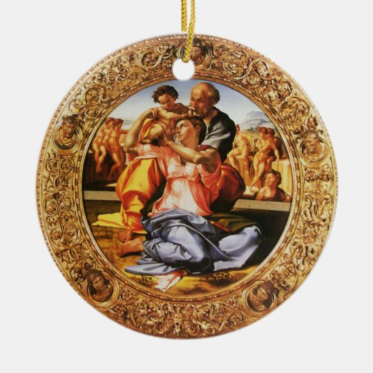 The Holy Family Merry Christmas Photo Template Ceramic Ornament