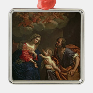The Holy Family Metal Ornament