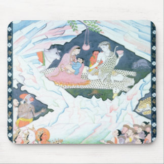 The Holy Family of Shiva and Parvati Mouse Pad