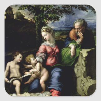 The Holy Family of the Oak Tree, c.1518 Square Sticker