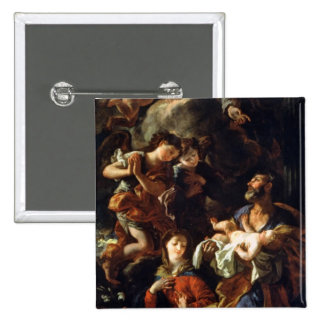 The Holy Family (oil on canvas) Pinback Buttons