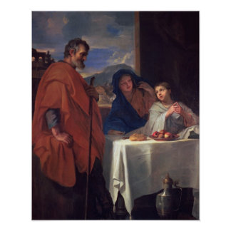 The Holy Family, or The Grace (oil on canvas) Poster