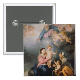 The Holy Family or The Virgin of Seville Pinback Buttons