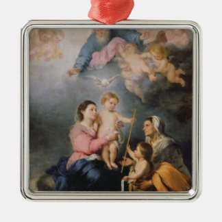 The Holy Family or The Virgin of Seville Metal Ornament
