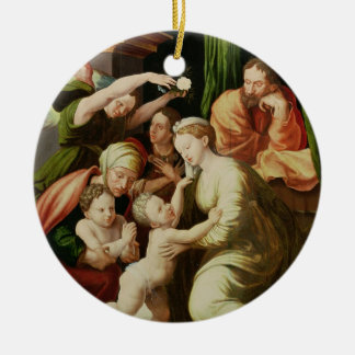The Holy Family Double-Sided Ceramic Round Christmas Ornament