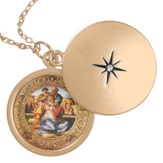 The Holy Family Round Locket Necklace