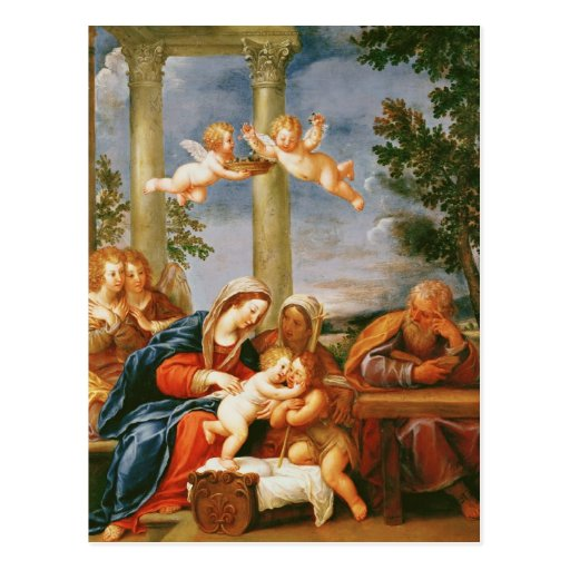 The Holy Family St. Elizabeth and St. John Postcard