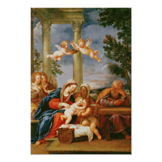 The Holy Family St. Elizabeth and St. John Poster