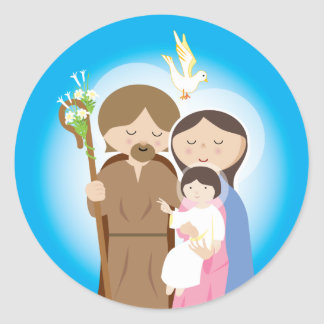The Holy Family Round Sticker