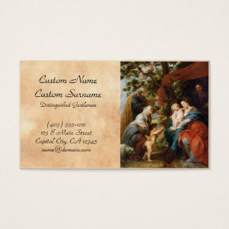 The Holy Family under the apple tree Rubens Paul Business Card