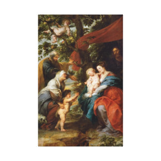 The Holy Family under the apple tree Rubens Paul Gallery Wrap Canvas