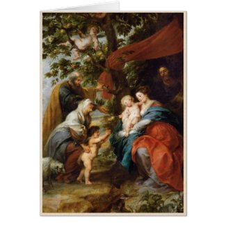 The Holy Family under the apple tree Rubens Paul Card