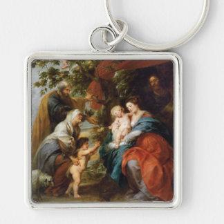 The Holy Family under the apple tree Rubens Paul Keychain
