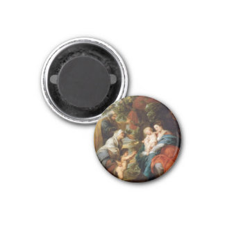 The Holy Family under the apple tree Rubens Paul 1 Inch Round Magnet