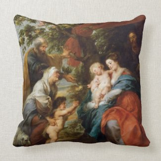 The Holy Family under the apple tree Rubens Paul Pillow