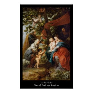 The Holy Family under the apple tree Rubens Paul Print