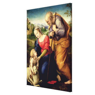 The Holy Family with a Lamb, 1507 Canvas Print
