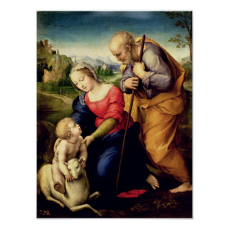 The Holy Family with a Lamb, 1507 Poster