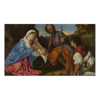 The Holy Family with a Shepherd - Titian Business Card