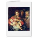 The Holy Family with Elizabeth (oil on panel) Cards