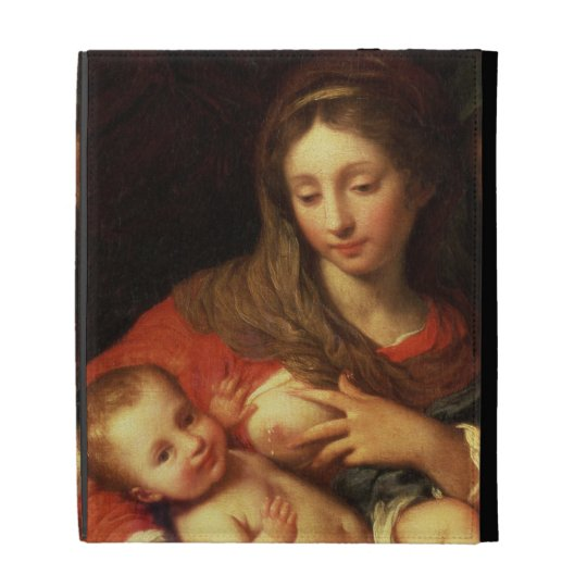 The Holy Family with Elizabeth (oil on panel) (det iPad Cases