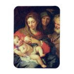 The Holy Family with Elizabeth (oil on panel) Vinyl Magnet