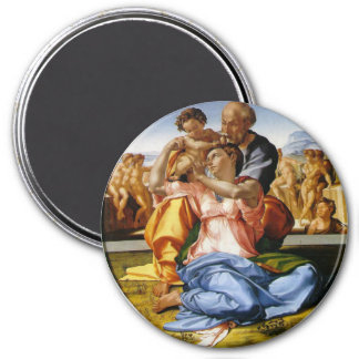 The Holy Family with Infant St John 3 Inch Round Magnet
